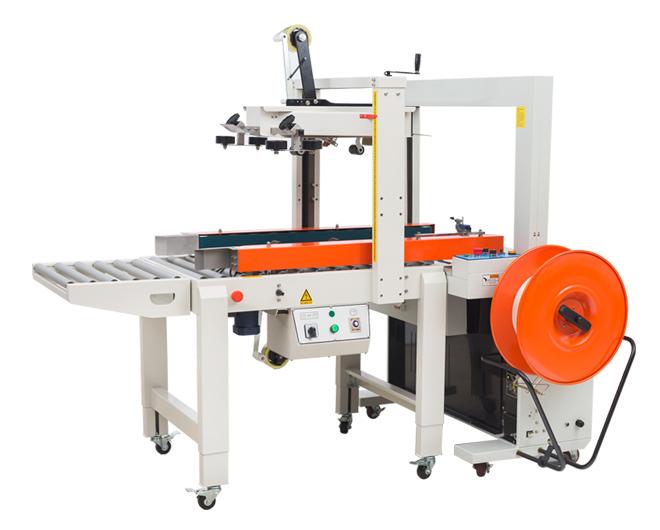 FXC5050A自动胶带封箱机+DBA200全自动捆扎机
